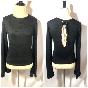 American Eagle  Black Open Back shirt sz Med